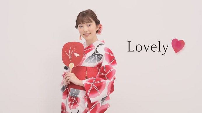 外薗舞 – 資生堂 YUKATA BEAUTY