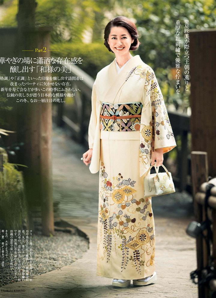 目黒真希 – 美しいキモノ2016冬号
