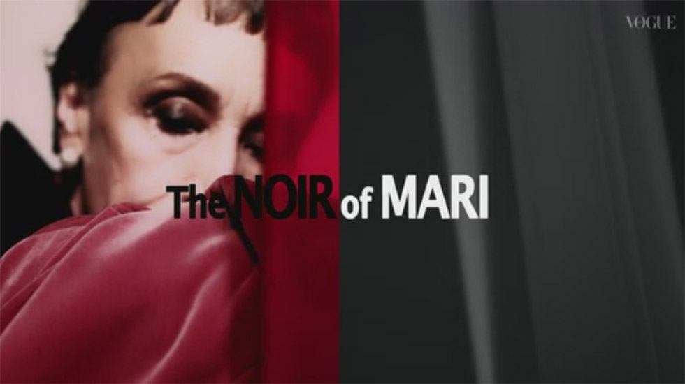 我妻マリ – VOGUE JAPAN 2017.12月号 The Noir of MARI メイキング1