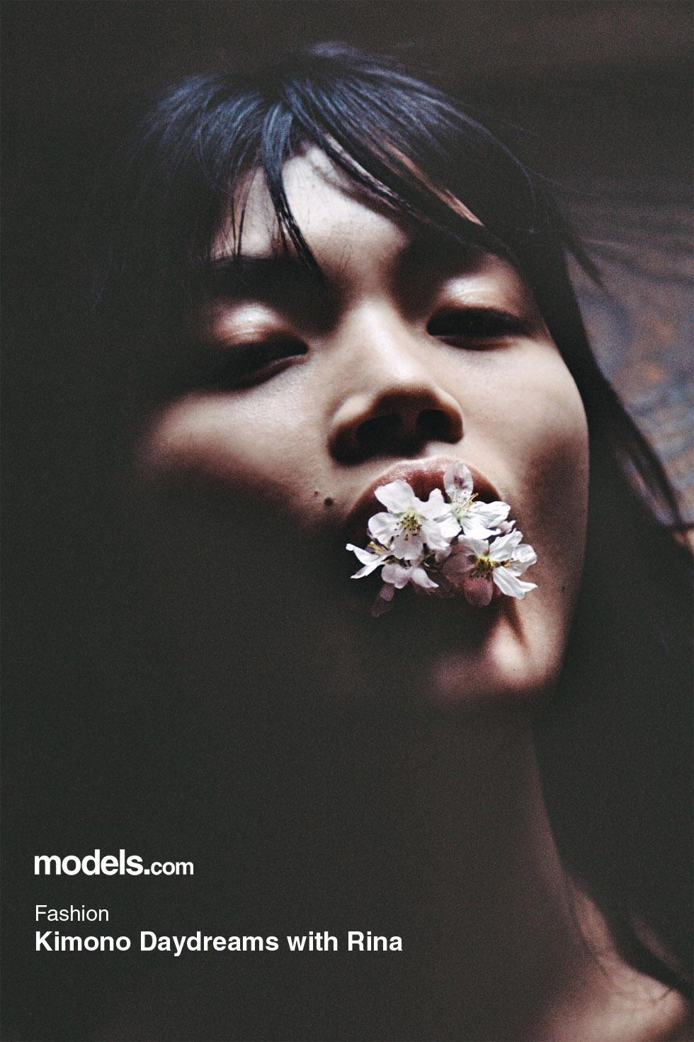 福士リナ – models.com Kimono Daydreams with Rina