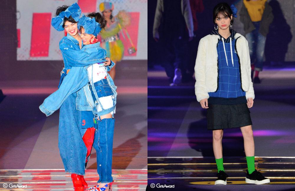 福士リナ, 福士マリ, 丹保ふぶき, 咲和希 – GirlsAward 2018 A/W report